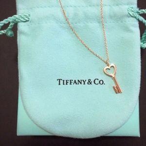 Jewelry - Tiffany & Co. Heart Key Pendant